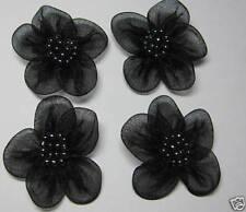 Organza Flower Sew On Appliques x 10