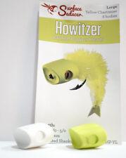 Howitzer BAITFISH POPPER Heads large & medium/white & yellow chartreuse IT POPS!