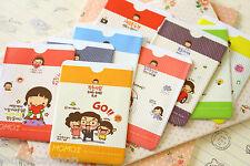 Momoi niña tarjeta titular bolsillo de tarjeta de banco de PVC de Dibujos Animados Lindo Autobús Pasar Kawaii Regalo
