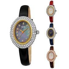Nuovo Donna Burgi BUR234 Cristallo Swarovski Ovale Vernice pelle Cinturino Watch