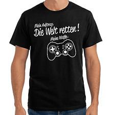 Mein Auftrag: Die Welt retten! Meine Waffe: Gamepad   Gamer   Fun S-XXL T-Shirt