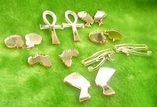 Africa stud earrings gold or silver mirror acrylic Afro Nefertiti Ankh eye Comb