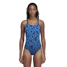 Adidas Women Swimming Allover Print Swimsuit Beach Pool Training Swimwear DQ3245