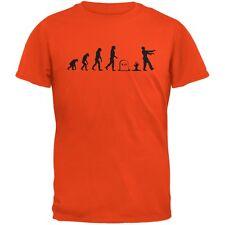 Halloween Zombie Evolution Orange Adult T-Shirt