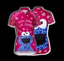 """Brainstorm Gear Women's Sesame Street Cookie Monster """"Pink"""" Cycling Jersey"""