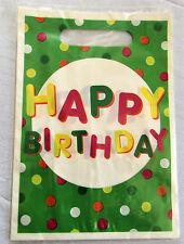 Gift Bags Plastic Loot Happy Birthday or Football x 40
