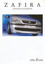 Opel Zafira i-Line Zubehör Prospekt 7/99 brochure 1999 Auto PKWs Deutschland