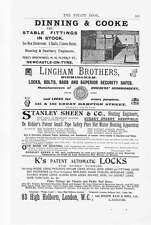 1905 Dinning & Cooke Stanley Sheene Sheffield Old Ads