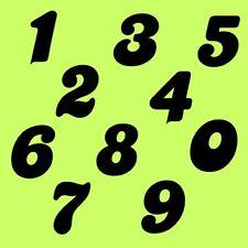 7 cm Zahlen Aufkleber Klebezahlen Ziffern Sticker 1 bis 200 Stück Schwarz SA-27