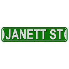 Plastic Wall Door Street Road Sign Names Female Jan-Je