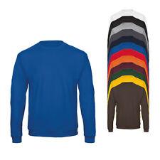 B&C Herren Sweatshirt Pullover Einfarbig S M L XL XXL 3XL 4XL Neu WUI23