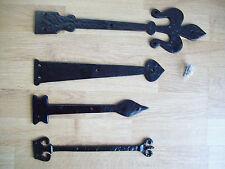 black antique cast iron hinge fronts false dummy hinge fronts x 1
