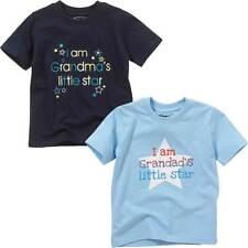 Childs Boy Girl Grandma Grandad Little Star Birthday T-Shirt Tops Summer Cotton
