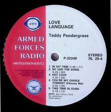TEDDY PENDERGRASS - LOVE LANGUAGE b/w PEABO BRYSON - STRAIGHT FROM.. - PROMO LP