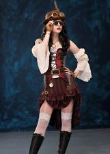 Ladies Brown Victorian Steampunk Lady Costume