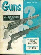 1955 Guns Magazine: Gun Replicas Fakes?/Soviet Marksmen