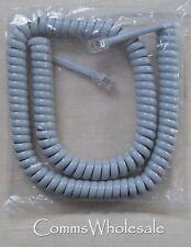 Ersatz Telefonhörer Geringelte Schnur Grau - 62 cm länge in spiral zustand