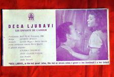 ENFANTS DE L'AMOUR PASCAL 1954 EXYU MOVIE PROGRAM