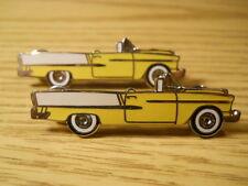 "Choice Chevrolet Impala Convertible Lapel Hat Jacket Pin Chrome Enamel 2"" Yellow"