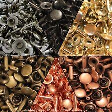 Single Cap Rivets 6x5 7x7 & 9x8 Stud Rapid Rivets Leather Craft Repair