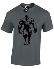 Hulk Camiseta para hombre silueta Cool Gimnasio Culturismo Training Top levantamiento Crossfit