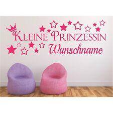 Wandtattoo Kleine Prinzessin Name Wunschname Wunschtext Sticker Wandaufkleber 3