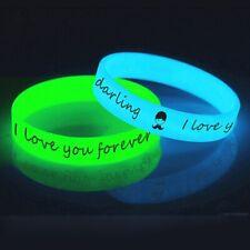 Braccialetti in Silicone Fluorescenti Glow con Logo personalizzato da 50pz a1000