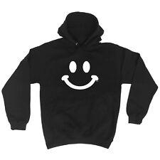 Funny Novelty Hoodie Hoody hooded Top - Smile Face