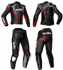 APRILIA moto racing Biker in Pelle Tuta Moto Pantaloni Giacca in Pelle