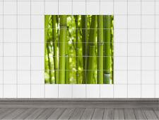 Fliesenaufkleber Fliesen für Bad Küche Fliesendesign Bambus grün