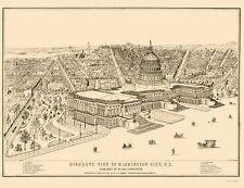 Panoramic Print - Washington DC - Morrison 1872 - 23 x 29.97