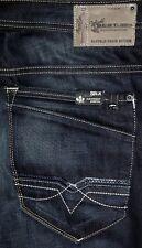 NEW Buffalo Six Slim Straight Men's Blue Black Jeans 31 32 33 34 36 38 40 42 46