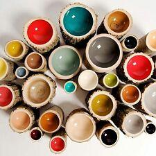 LOYAL LOOT   Log Bowls   Size 5 in Aqua, Dark Grey, Dark Orange, Kiwi