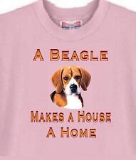 Dog T Shirt - A Beagle Makes A House A Home - Adopt Animal Cat  Men Women # 45