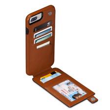 Sena WalletSkin Leather Wallet Case for iPhone 8 Plus, 7 Plus, 6 Plus