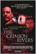 CRIMSON RIVERS MOVIE POSTER JEAN RENO 2000 FRENCH FILM