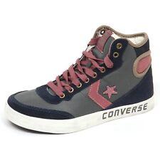 E4092 sneaker donna blu/grey CONVERSE FAST BREAK 2 HI scarpe shoe woman