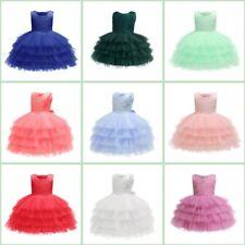 Formal Toddler Wedding Dress Baby Bridesmaid Party Dresses Kid Princess Tutu