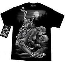 Mens Biker t-Shirt - Motorcycle DGA Lovers Ride Or Die Graphic Skulls