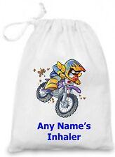 Personalised Children's Motobike Asthma Inhaler/Epi Pen/Medicine Bag
