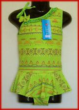 Girls Size 5 - SWIMWEAR / BATHERS / TOGS Gorgeous Green Patterned - NEW