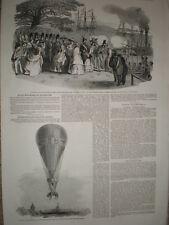 Princess Louisa Holland Royal Wedding Stockholm Sweden & Poiteven balloon 1850