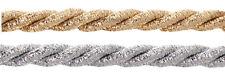 20m Kordel 5mm Metallisiert Schnur LUREX Gold Silber Schmuck Dekoration