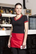 Delantal Corto Hombre Mujer del trabajo Cocinero Cocinero Cocina Bar Ropa ropa