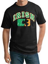 Mens Tall T-Shirt St Patricks Day Shirt Distressed Irish Shamrock