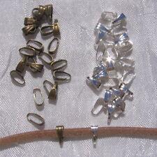 50 bélières AU CHOIX anneaux 7mm x 3mm pour perles métal argenté ou bronze