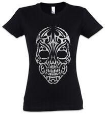 Tribal Skull Women T-Shirt Celts Celtic Tattoo Symbol Sign Knot Culture