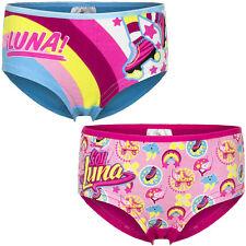 Nuevo Ropa Interior Niñas Soy Luna Calzoncillos Boxer Cortos Slip talla 92-98