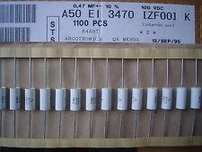 Arcotronics A50EI3470FH00K 0.47uF 100V 10% Axial Capacitores de Película de metal Polyster