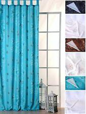 Übergardine Vorhang Whitney Gardine blickdicht Blumen Schlaufen B/H ca. 140x245